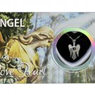 Angel Love Wish Pearl Kit Cultured Pearl Necklace Set with Stainless Steel Chain 16""