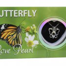 Butterfly Love Wish Pearl Kit Cultured Pearl Necklace Set with Stainless Steel Chain 16""