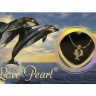 Dolphin Love Wish Pearl Kit Cultured Pearl Necklace Set with Stainless Steel Chain 16""