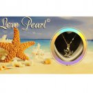 Star Fish Love Wish Pearl Kit Cultured Pearl Necklace Set with Stainless Steel Chain 16""