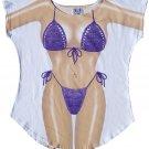 d4394002e85ce Sexy Fun 2 Wear Fantasy Bikini Swimwear Swimsuit Cover Up Oversized T-Shirt  - Purple