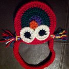 Crocheted Owl Purse RED