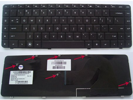 HP Compaq G56 G56-100 G56-200 Series, Presario CQ56 CQ56-100 Black keyboard