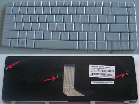 HP Pavilion dv4 dv4-1000 dv4-1100 dv4-1200 dv4-1300 dv4-1400 Keyboard White