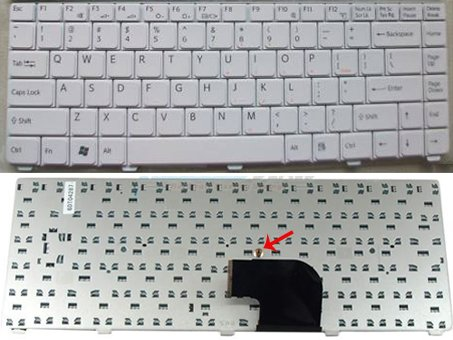 US Layout Sony VAIO VGN-C Series Laptop Keyboard White
