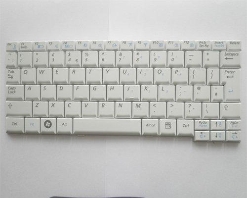 UK Layout Samsung Mini Laptop NC 10, ND 10, N110 Series keyboard White