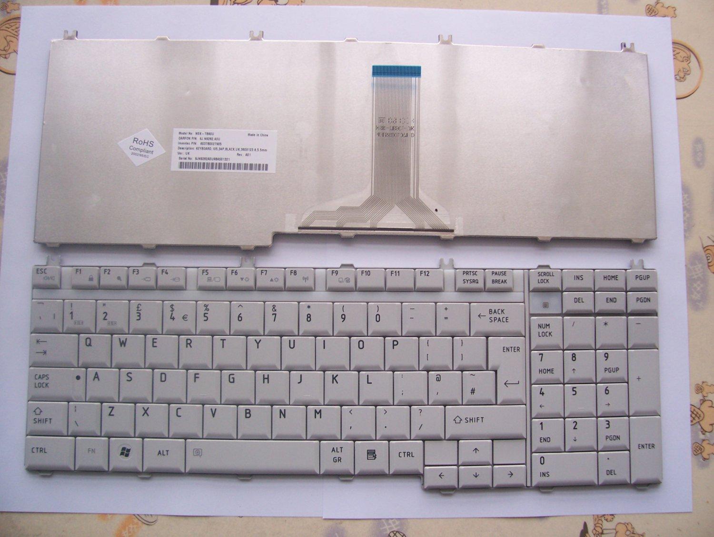 UK Layout Toshiba Satellite P200, P205, X205 Series Silver keyboard