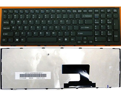 NEW Sony VAIO VPC-EH25FM/P Keyboard  148970811, 9Z.N5CSQ.201( us layout,black)