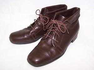 Vintage Boots Leather Re Enactor LARP Prairie Granny Pixie Fairy Peter Pan 10M