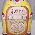 Vintage Cookie Jar JukeBox Wurlitzer Treasure Craft 1950s Retro Mad Men 50s RARE
