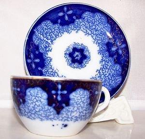 Flo Flow Blue Persian Moss German Porzellanfabrik Utzschneider Cie 1894 SCARCE !