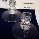 Candlesticks Duncan & Miller 1937 Canterbury 115 Elegant Glass Vintage Romantic