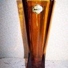 Vintage Vase Anchor Hocking Amber Desert Gold Mid Century Modern Zeppelin Rocket