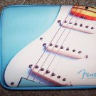 "iPad Tablet Android Zipper Case Neoprene 10"" NEW Lt Blue Image Fender Guitar"