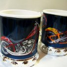 Vintage Orange County Choppers 2pcs Hot Cycle Mugs Biker Scooter New Motorcycle