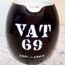 Vintage Hall China VAT 69 Promotional Jug Black White Ex Cond Breweriana Liqour