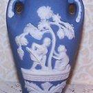 Vintage Vases 2 Wedgwood Blue Color Occupied Japan Jasperware Romantic Prairie