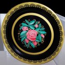 "Vintage Tray Roses Fabulous Gold Accent Ex Cond Large 19"" Romantic Chic Cottage"