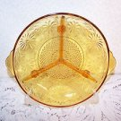 Indiana Glass Amber Daisy Relish Tray Divided ExCond VTG Depression 1940s RARE