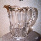 Vintage EAPG Michigan Creamer US Glass States Series Early American RARE 1902