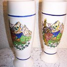 Vintage Breweriana Beer Pottery Glasses 1987 WF Offenhausen Brewery Bar Germany