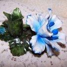 Vintage Capodimonte Naples Italy Italian Art Porcelain Handmade Flower Candlesti