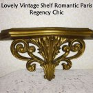 Shelf Ornate Hollywood Regency Romantic Prairie Paris Chic Vintage Gold Elegant
