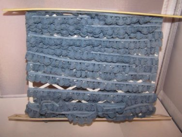 """Vintage Lace Trim Country Blue Craft DIY Sewing 9.75 yards NEW Old Stock 350"""""""