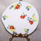 English Garden Crown Staffordshire England Luncheon Plate (1) Replacement ExCond