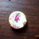 Button Porcelain Victorian Antique Roses Sewing Art Re Enactor Theatre Costume