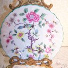 """James Kent Old Foley Chinese Rose England Romantic Chic Floral Bird Plate 5.75"""""""