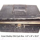Antique Tin Cash Box Shabby & Chic Distressed Primitive DIY UpCycle Art Recycle