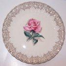 Vintage Rose Plate American Limoges Le Fluer Rouge Romantic Prairie Cottage Chic