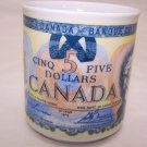 Canadian Mug Money Colorful $5 Design Coffee Tea Cocoa Canada Travel Souvenir
