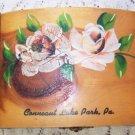 Vintage Cedar Wood Box Roses Conneaut Lake Park PA  Prairie Shabby Romantic Chic