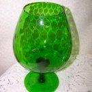 Retro Empoli Italian Art Glass 60s 70s Mid Century Eames Era Optic Bulbular Nice