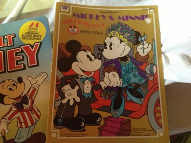 Vintag Mickey Mouse Club Stationary Paper Doll Book LP Disney UnOpen Mid Century
