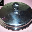 Farberware Lid Replacement Stainless Steel With Black Knob Handle 6.5""