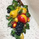 Vintag Chalkware Fruit LARGE Retro 30s 40s Cottage Country Italian Mediterranean