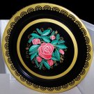 """Metal Tray Roses Fabulous Gold Accent ExCond Large 19"""" Vin Romantic Chic Cottage"""