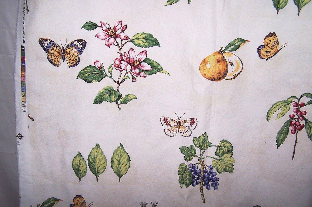 Kingsway Cottage Notebook Design Fabric Butterflies Figs Flowers Berries 56 x100