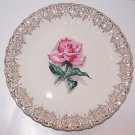 Rose Plate American Limoges Le Fluer Rouge Vintage Romantic Prairie Cottage Chic