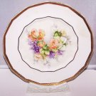 Plate Roses Peaches Lilacs Antique Dresden Romantic Prairie Cottage Country Chic