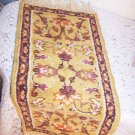 Rug Handwoven Cotton Vintage Floral Motif Persian or Maybe French Incredible See