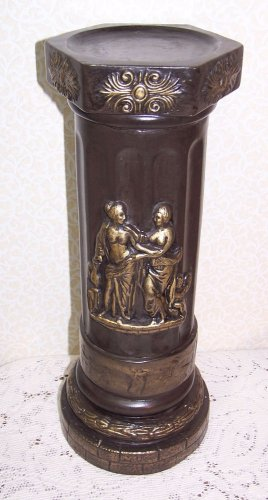 Pillar Candle Stand Renaissance Castle Medieval Old World Roman Tuscan