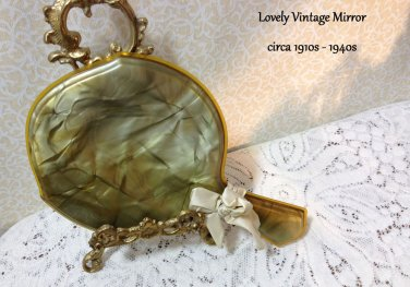 Vintage Mirror Hand 1920s - 40s Romantic Country Prairie Cottage Chic DIY UpCycl