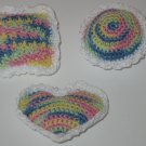 Crochet Barbie doll Pillows - Set of 3 - Multicolored