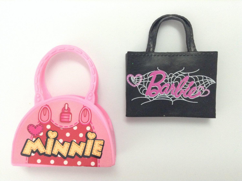 2 Barbie Fashion Doll Purses