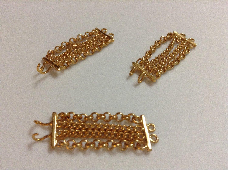 3 Gold Metal Barbie Bracelets