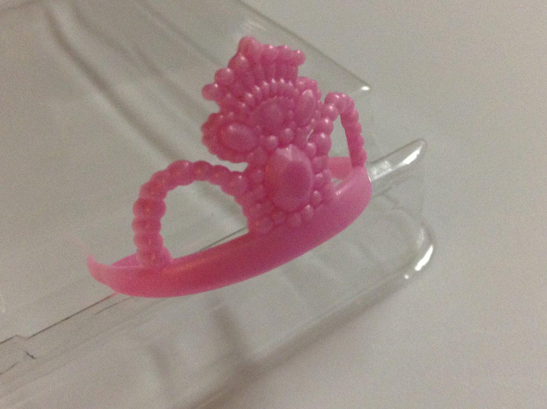 Pink plastic Barbie Crown